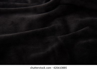 Close up of beautiful black velvet texture background.