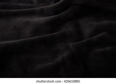 Close up of beautiful black velvet texture background.