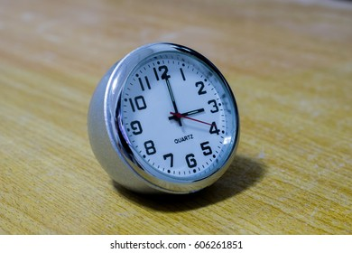 Close up beautiful desktop clock
