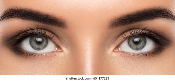 Close up of beautiful female eyes
