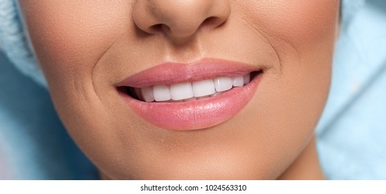 Close up of beautiful healthy woman smile