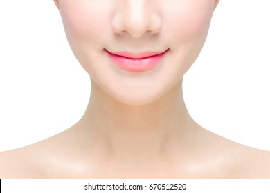 close up of beautiful mouth lips smile smiling woman