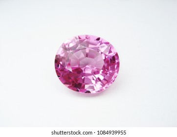 close up beautiful natural pink sapphire gems stone oval cutting