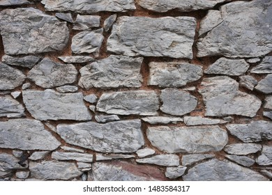 Close up beautiful old stone wall background horizontal, texture