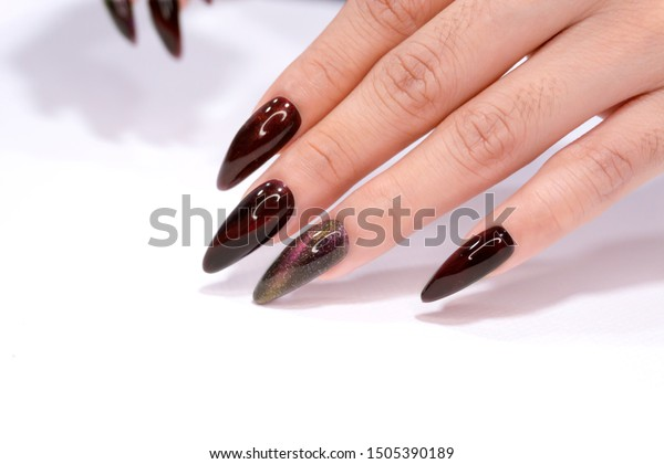 Gel Nail Designs In Red