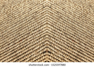 Close up of beautiful vintage twine  stacking in horizontal pattern, texture abstract background - Image