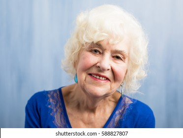 Close up of beautifully aged woman