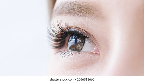 close up of beauty asia woman eye