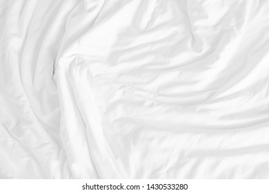 Close up of bedding sheets with copy space