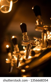 Close up of a beer dispenser in a pub.