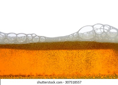 Close Up of Beer Foam and Froth. For Background Use
