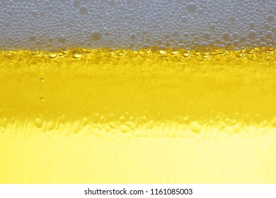 close up of beer water with bubble background