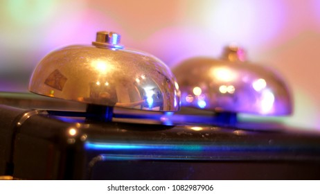 Close Up Of Bells On Vintage Phone