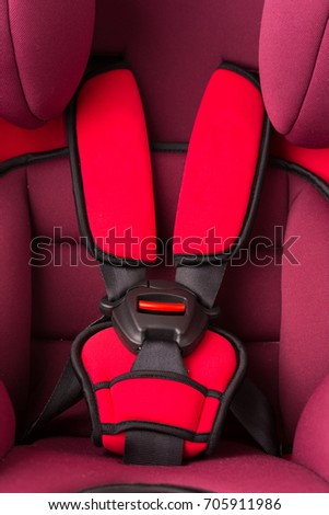 Close Up Of Belt Buckle Safety Car Seat For Baby And Kid