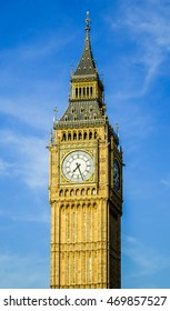 Close Up Of The Big Ben Tower in London, UK