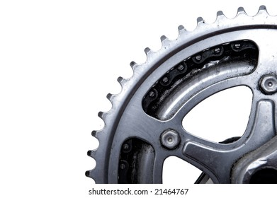 Close up of Bike gear wheel