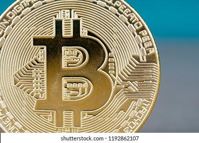close up Bitcoin digital decentralised peer to peer