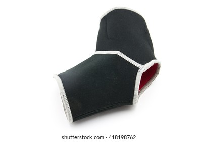 close up black ankle support