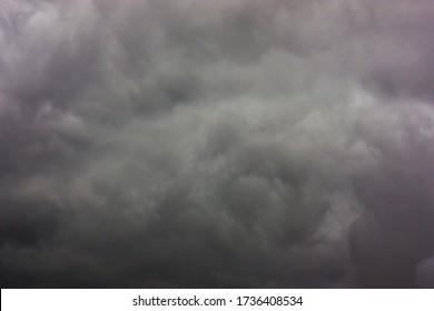 close up  black cloud background Before the rainstorm