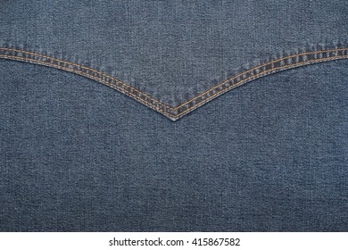 Close up of black jeans texture for background