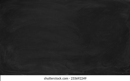 Close Up Blank Black Chalkboard Background And Texture