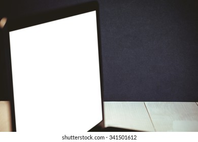 Close up of a blank laptop screen
