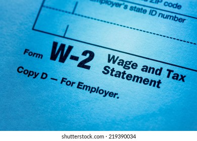 Close up of a blank W-2 form.