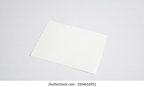Close up Blank white paper on white background.