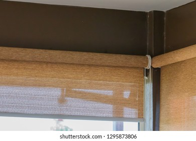 Close Up blind, roller, curtain, roll, shades, shutters.