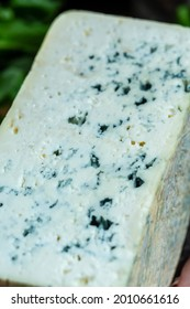 Close up blue cheese roquefort gorgonzola or dorblu stilton dairy product made from goat sheep or cow milk roquefort, cambozola, Food recipe background,