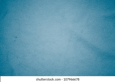 close up blue leather texture