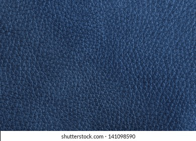 close up of a blue leather texture