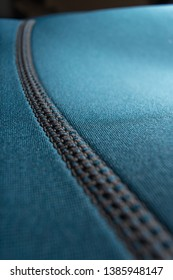 Close up of a blue neoprene scuba diving / surfing wetsuit