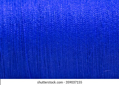 Close up Blue thread texture.