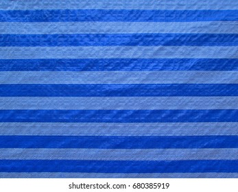 Close up of blue and white plastic weave  texture