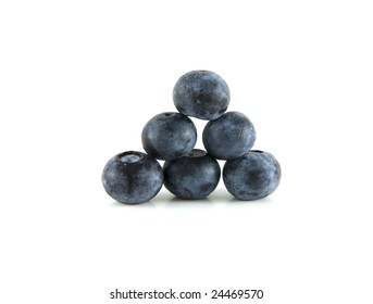 Close up of blueberries with shallow depth of field