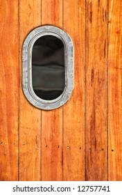 Close up of a boat's porthole