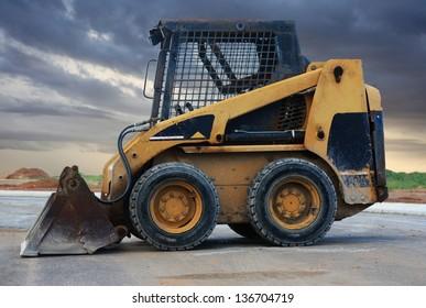 a close up of a bobcat or a skid loader