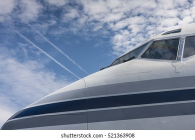 Close up of a Boeing 737 nose