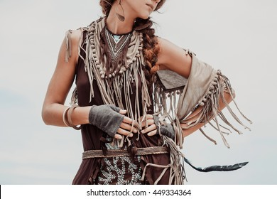 close up of boho woman in jewelry