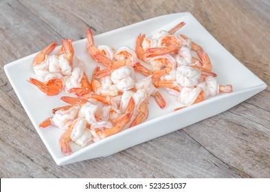 Close up of boil shrimp.
