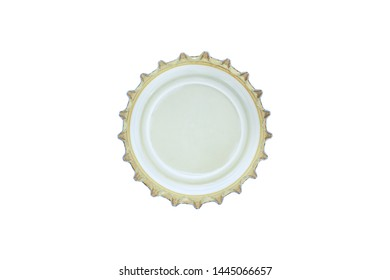 Close up of a bottle cap isolated on white background