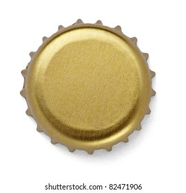 close up of  a bottle cap on white background with clipping path