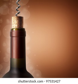 Close the bottle with the corkscrew