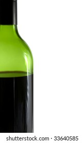 Close up of bottle of red wine