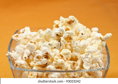 Close up of a bowl of popcorn