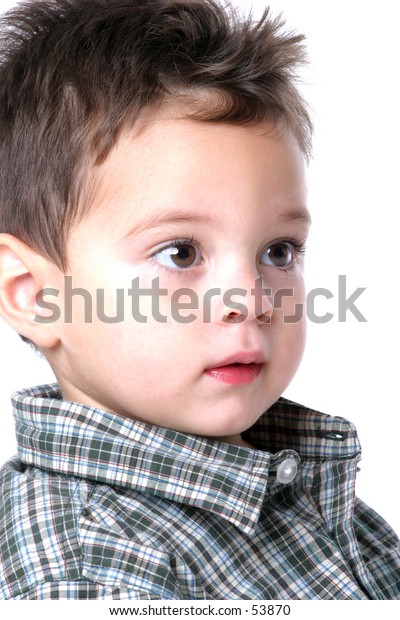 Close up of Boy with Brown Eyes
