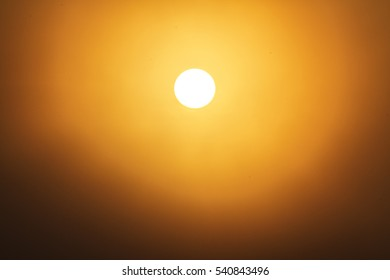Close up of bright big sun