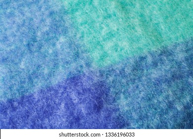 Close up of bright mohair wool fabric