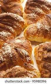 close up of brioches